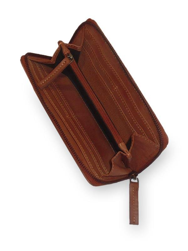 Sticks and Stones - Lederbörse Denver Wallet - Mustang Brown Innenansicht