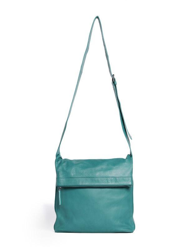 Sticks and Stones - Ledertasche Flap - Aqua