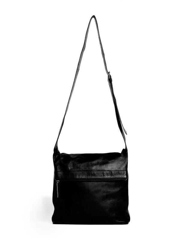 Sticks and Stones - Ledertasche Flap - BW - Black Vorderansicht