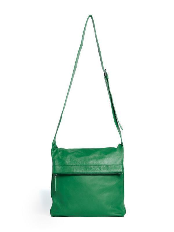 Sticks and Stones - Ledertasche Flap - Cactus Green
