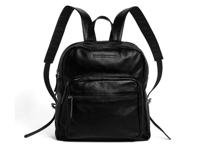 Sticks and Stones - Lederrucksack Francisco Backpack - Black