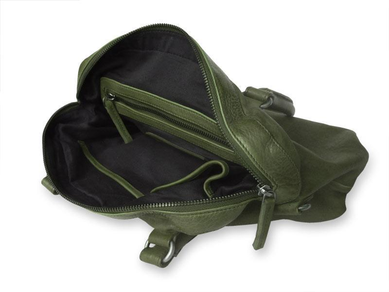 Sticks and Stones - Handtasche Frascati Bag - Dark Olive Innenansicht