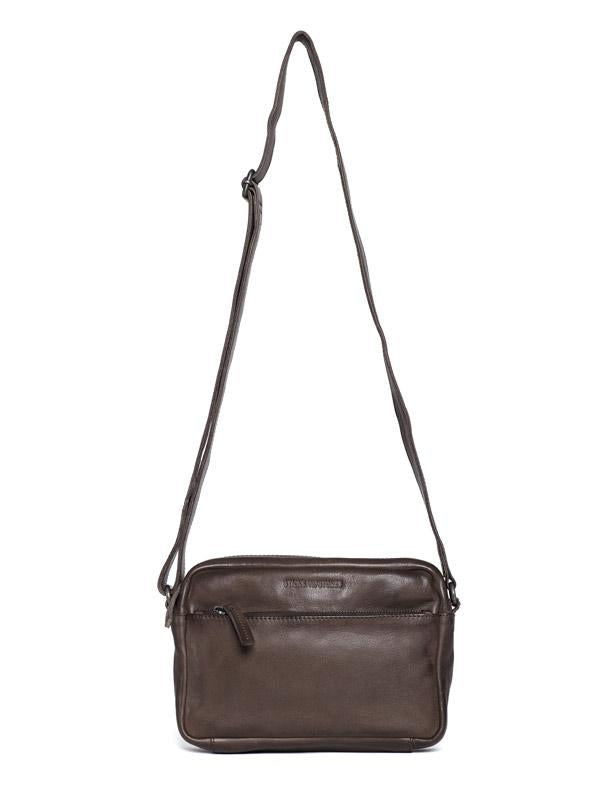 Sticks and Stones - Ledertasche Genova - Dark Taupe
