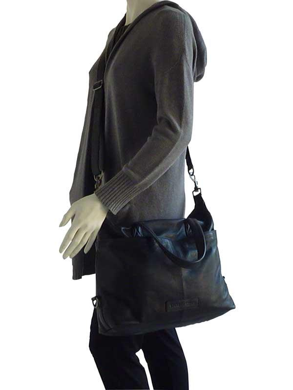 Sticks and Stones - Ledertasche Hamptons - Black als Crossbag