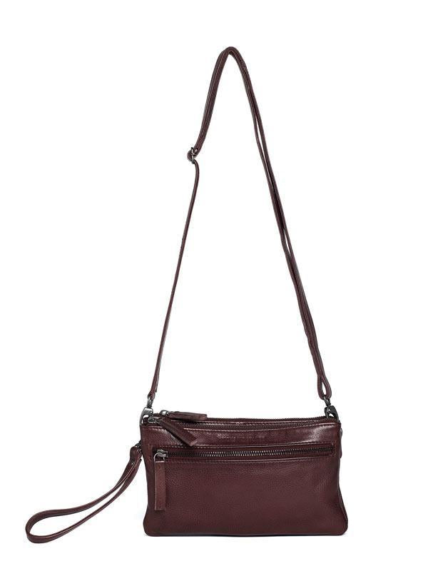 Sticks and Stones - Ledertasche Ibiza - Burgundy