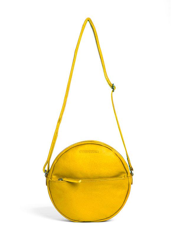 Sticks and Stones - Ledertasche Juno Bag - Yellow