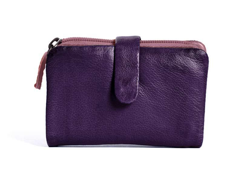 Sticks and Stones - Lederbörse Laguna Wallet - Deep Purple