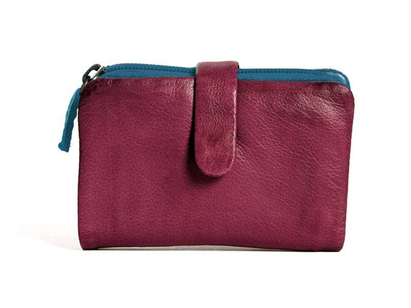 Sticks and Stones - Lederbörse Laguna Wallet - Mulberry Red