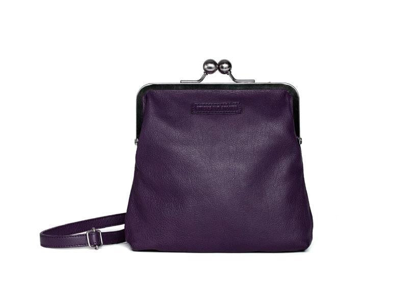 Sticks and Stones - Bügelverschlusstasche Le Marais Bag - Deep Purple