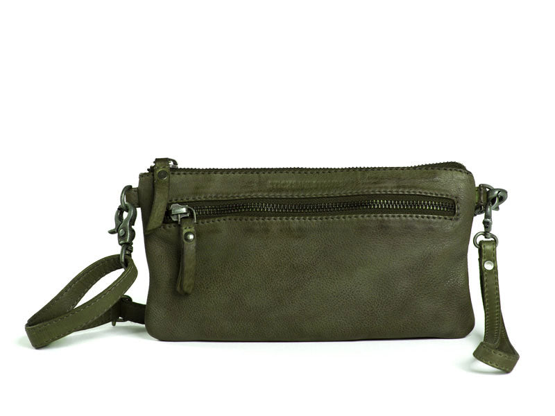 Sticks and Stones - Ledertasche Lima - Dark Olive