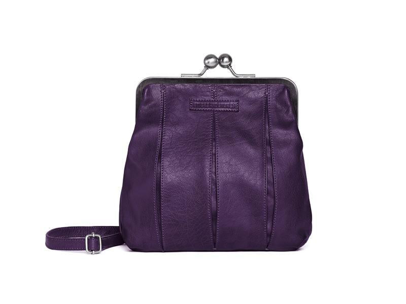 Sticks and Stones - Bügelverschlusstasche Luxembourg Bag - Deep Purple