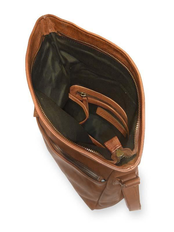 Sticks and Stones - Umschlagtasche Madison Bag - Cognac Innenansicht