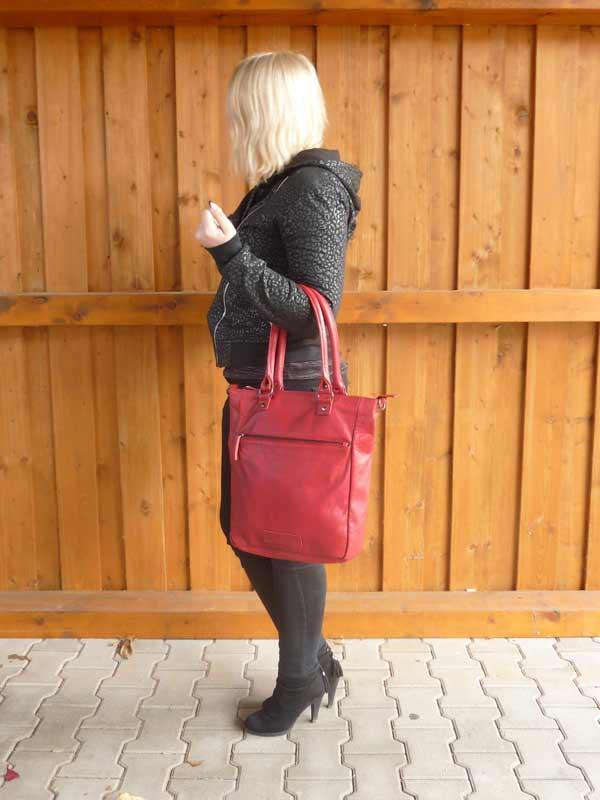 Sticks and Stones - Lederhandtasche Malibu Bag - Red als Handtasche