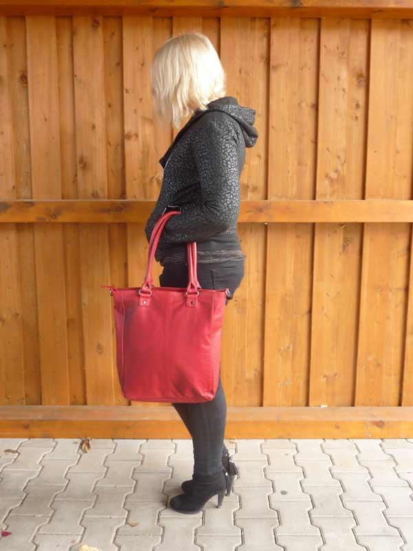 Sticks and Stones - Lederhandtasche Malibu Bag - Red Rückseite