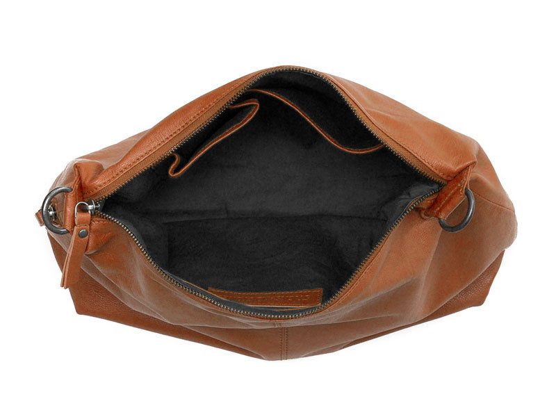 Sticks and Stones - Ledertasche Marbella - Cognac Innenansicht