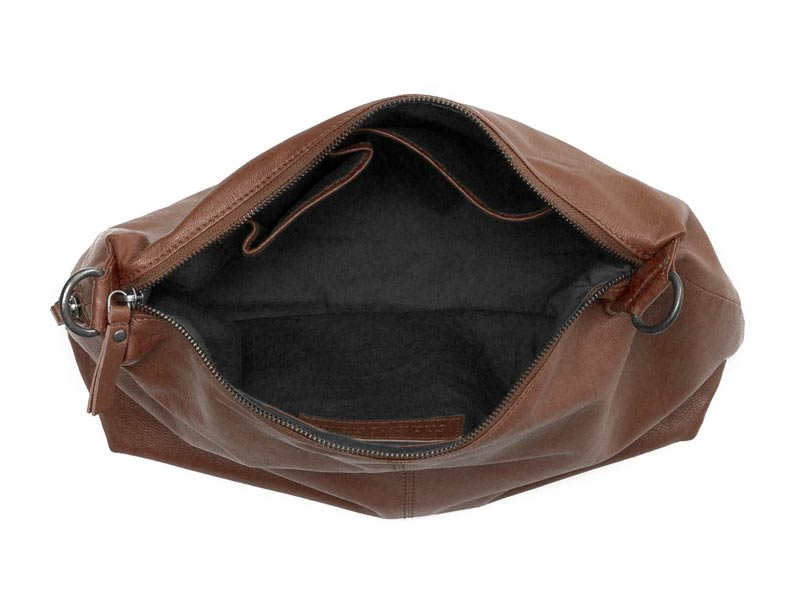 Sticks and Stones - Ledertasche Marbella - Mustang Brown Innenansicht