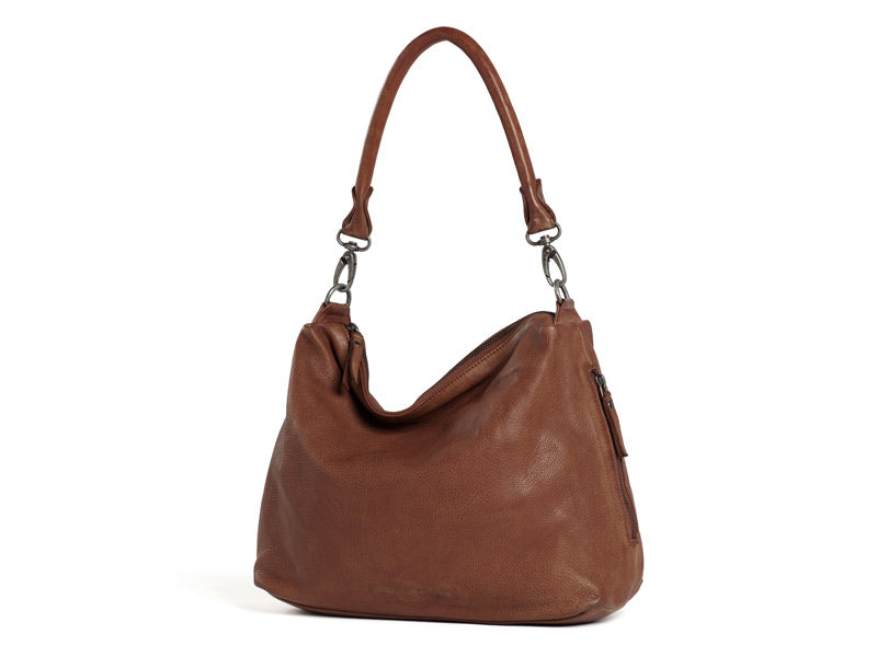 Sticks and Stones - Ledertasche Marbella - Mustang Brown mit langem Gurt
