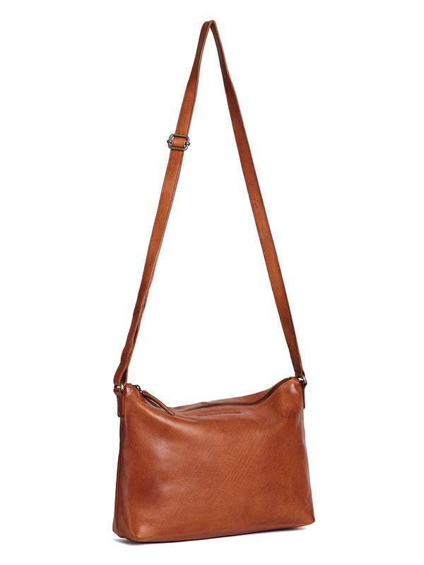 Sticks and Stones - Ledertasche Melrose - Cognac