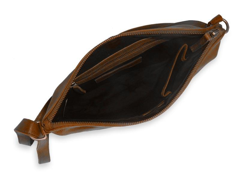 Sticks and Stones - Ledertasche Melrose - Cognac Innenansicht