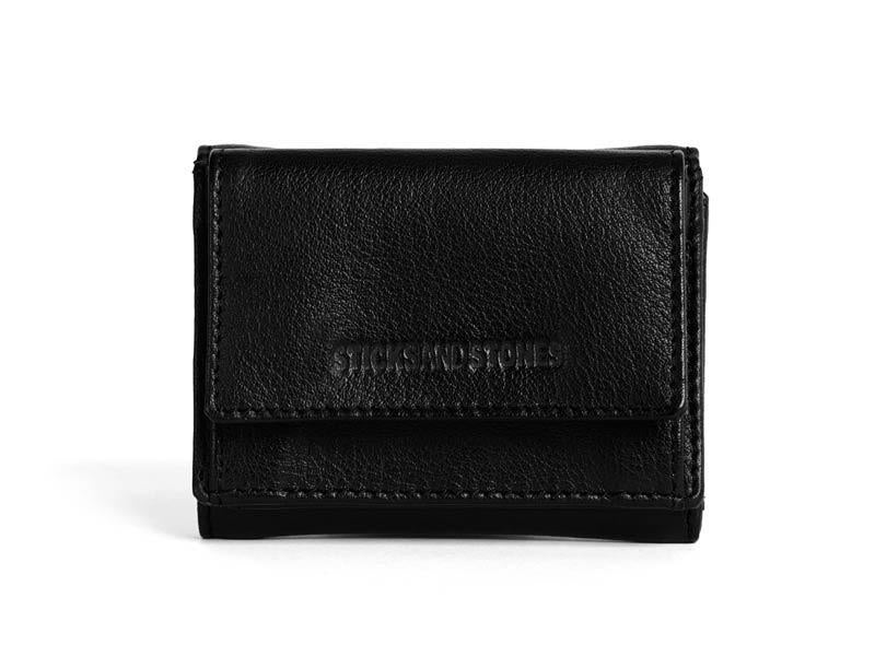 Sticks and Stones - Lederbörse Merida Wallet - Black