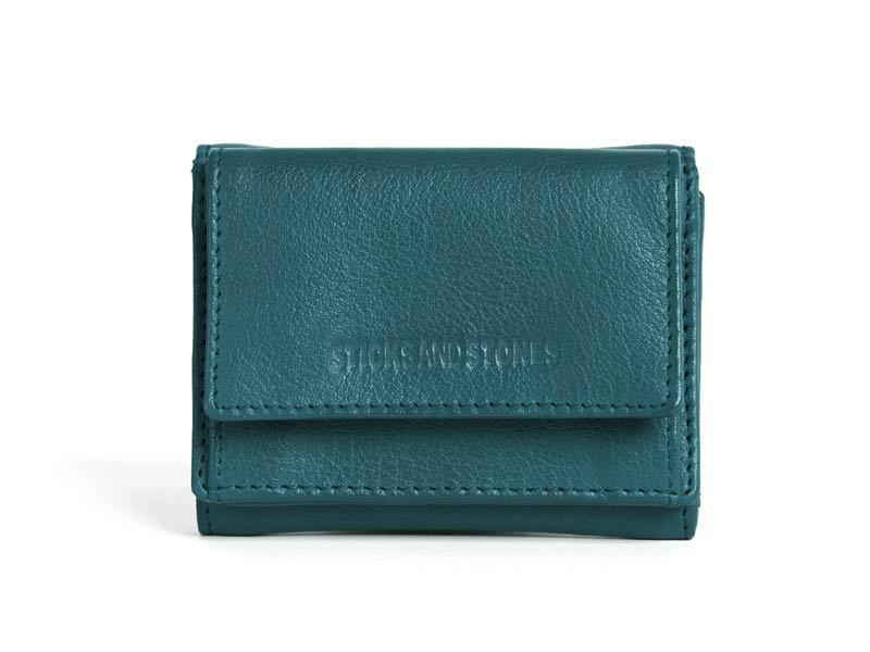 Sticks and Stones - Lederbörse Merida Wallet - Dusty Petrol