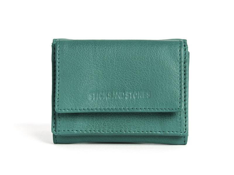 Sticks and Stones - Lederbörse Merida Wallet - Green Spruce