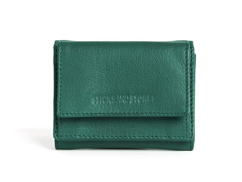 Sticks and Stones - Lederbörse Merida Wallet - Pine Green
