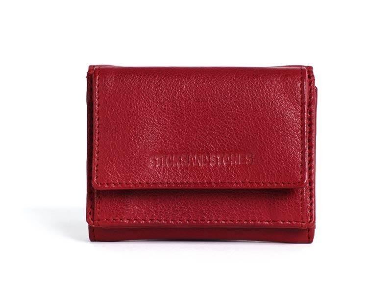 Sticks and Stones - Lederbörse Merida Wallet - Red