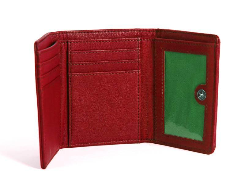 Sticks and Stones - Lederbörse Merida Wallet - Red Innenansicht