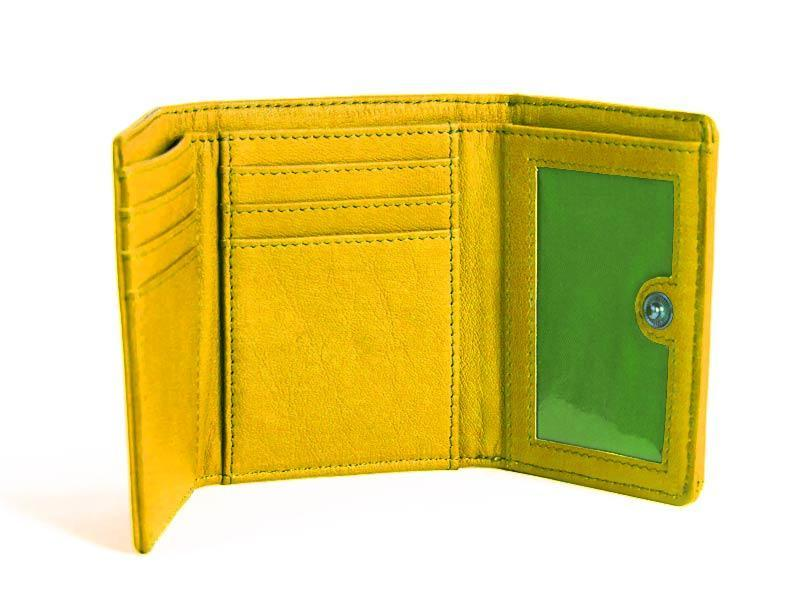 Sticks and Stones - Geldbörse Merida Wallet - Yellow Innenansicht