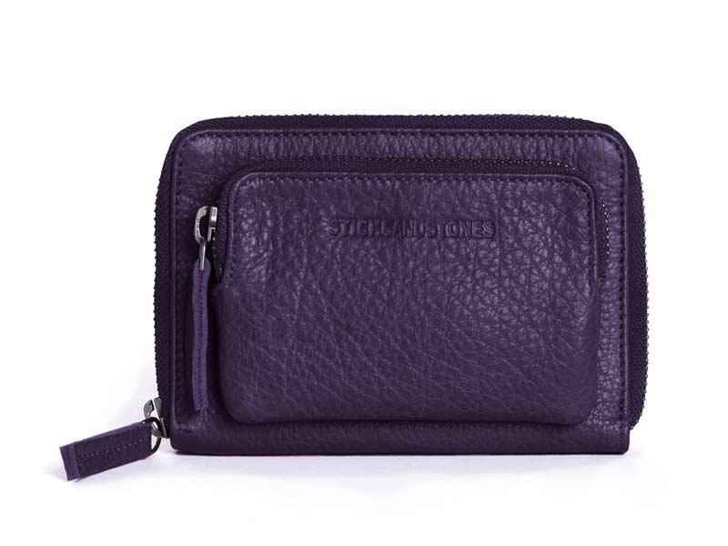 Sticks and Stones - Geldbörse Montana Wallet - Deep Purple