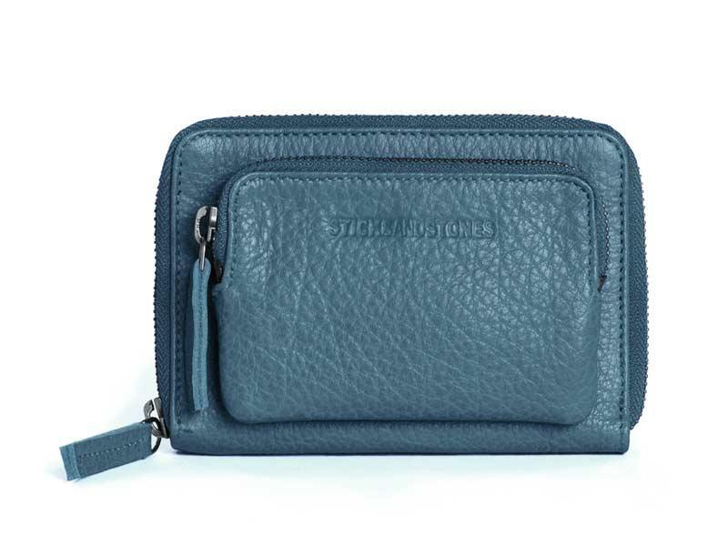 Sticks and Stones - Lederbörse Montana Wallet - Denim Blue
