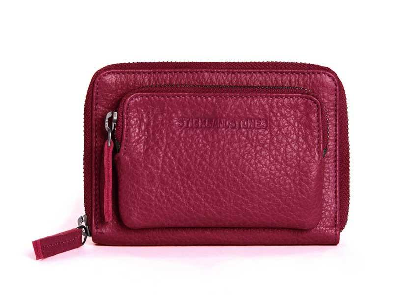 Sticks and Stones - Geldbörse Montana Wallet - Mulberry Red