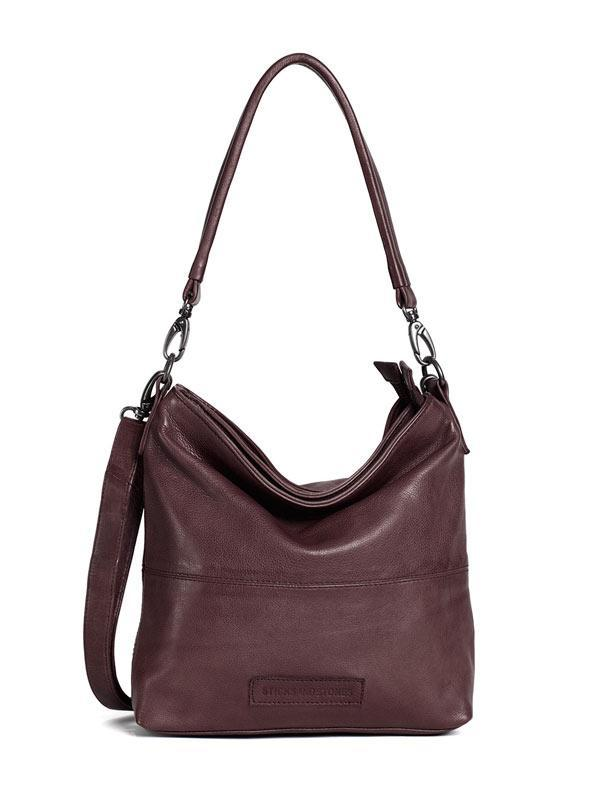 Sticks and Stones - Ledertasche New Amsterdam - Burgundy