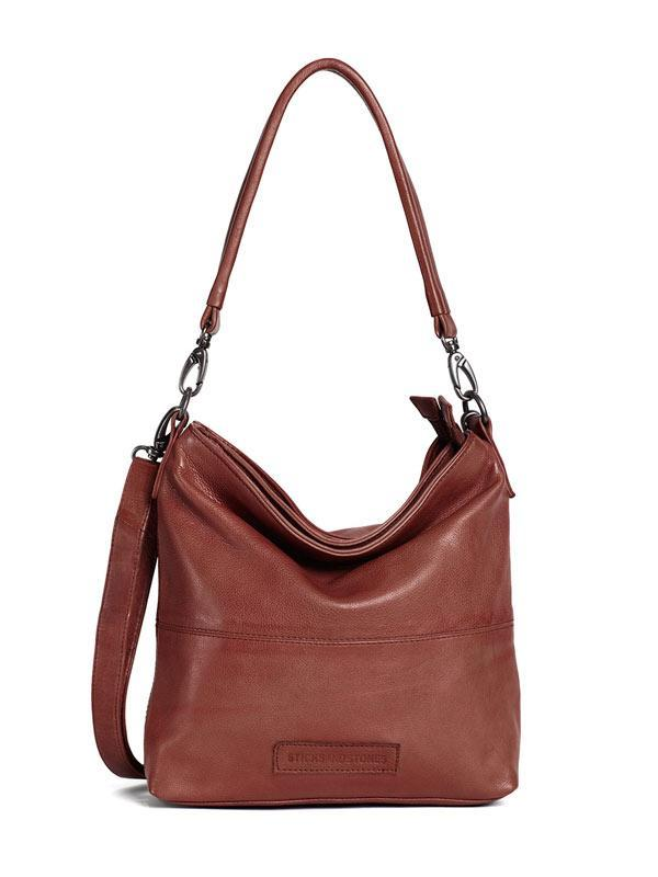 Sticks and Stones - Ledertasche New Amsterdam - Mustang Brown