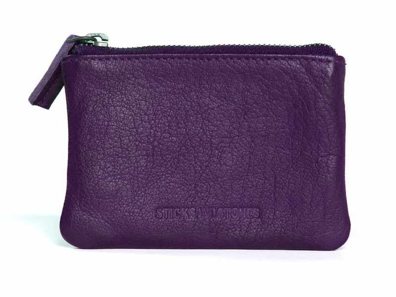 Sticks and Stones - Lederbörse Nice Wallet - Classic Purple