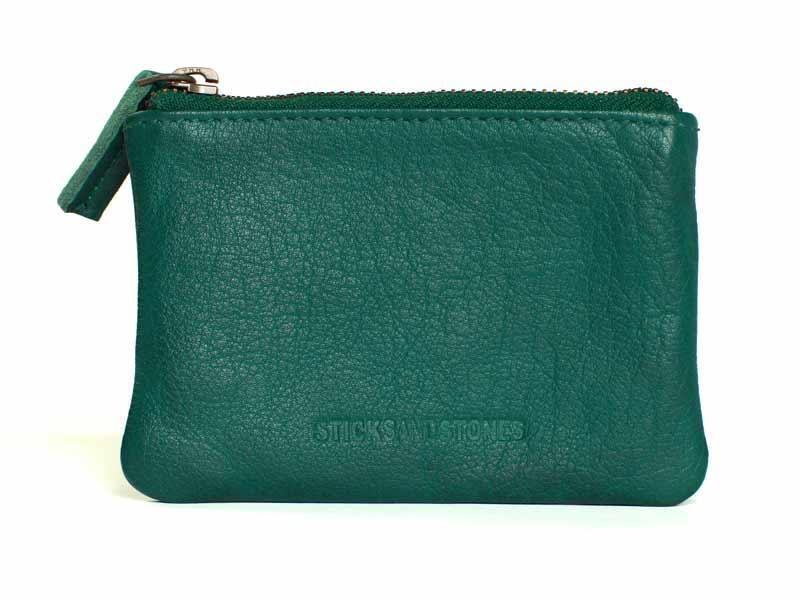 Sticks and Stones - Lederbörse Nice Wallet - Pine Green