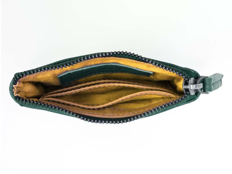 Sticks and Stones - Lederbörse Nice Wallet - Pine Green Innenansicht