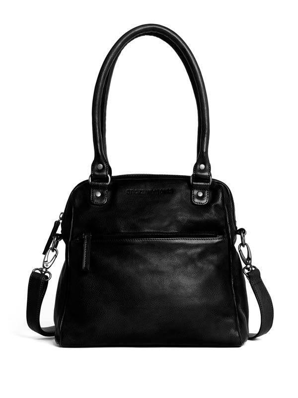 Sticks and Stones - Lederhandtasche Orleans Bag - Black
