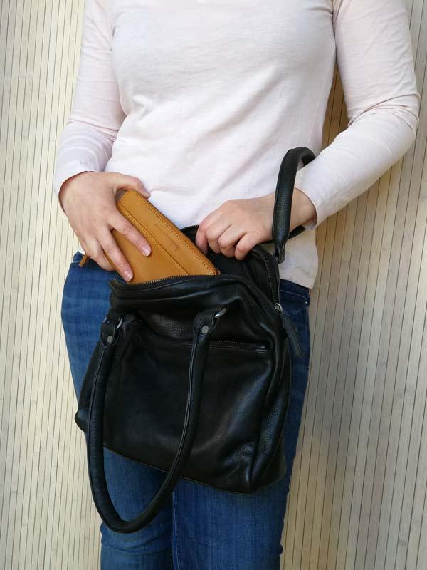 Sticks and Stones - Lederhandtasche Orleans Bag - Black als Handtasche mit Denver Wallet
