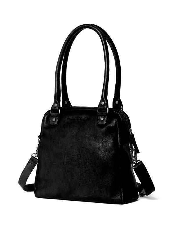 Sticks and Stones - Lederhandtasche Orleans Bag - Black Seitenansicht