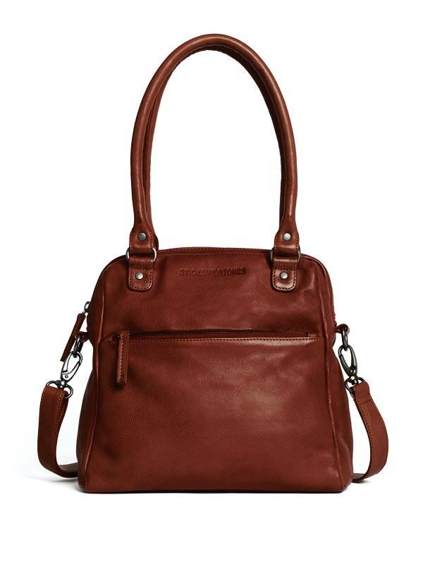 Sticks and Stones - Lederhandtasche Orleans Bag - Mustang Brown