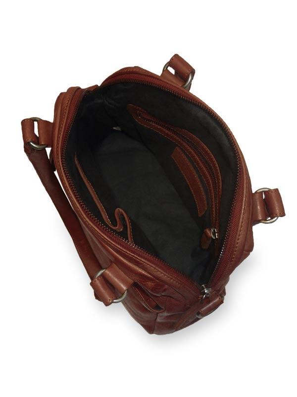 Sticks and Stones - Lederhandtasche Orleans Bag - Mustang Brown Innenansicht