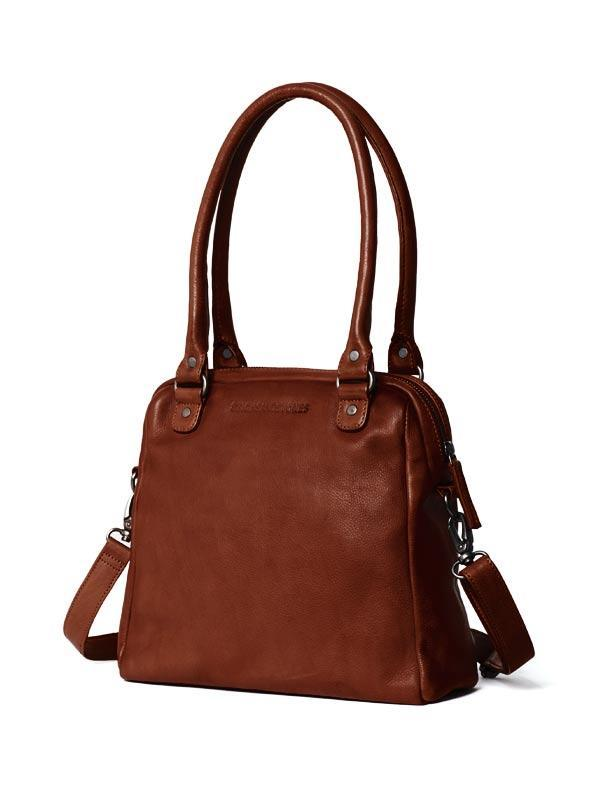 Sticks and Stones - Lederhandtasche Orleans Bag - Mustang Brown Seitenansicht