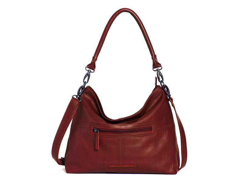 Sticks and Stones - Ledertasche Paris - Cherry Red