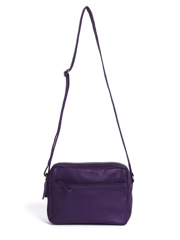 Sticks and Stones - Ledertasche Pasadena Bag - Deep Purple