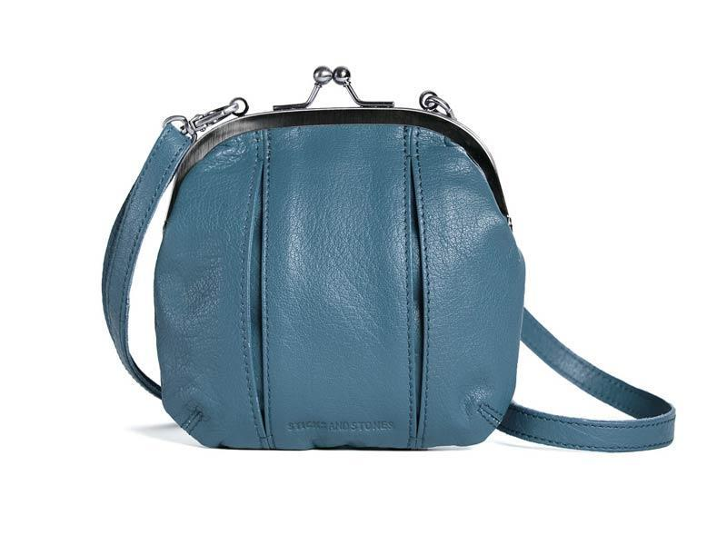 Sticks and Stones - Ledertasche Ravenna Bag - Denim Blue
