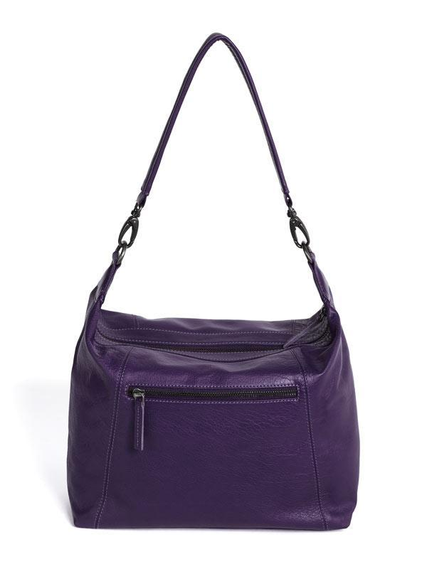 Sticks and Stones - Ledertasche Savona Bag - Deep Purple