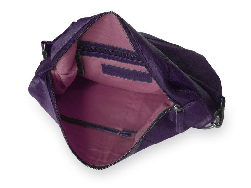 Sticks and Stones - Ledertasche Savona Bag - Deep Purple Innenansicht