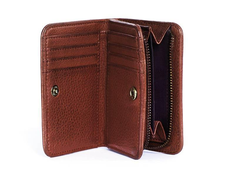 Sticks and Stones - Lederportemonnaie Sonora Wallet - Mustang Brown Innenansicht